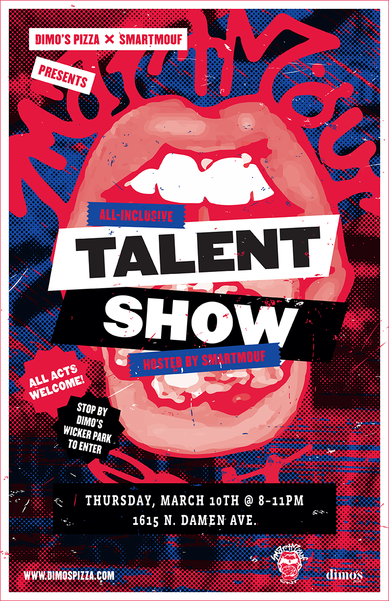 smartmouf talent show phil parcellano design photography and illustration services